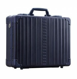 Dark Blue Briefcase made from aluminum with 10 year warranty