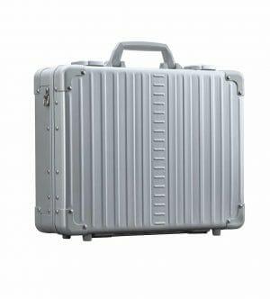 Sliver aluminum briefcase