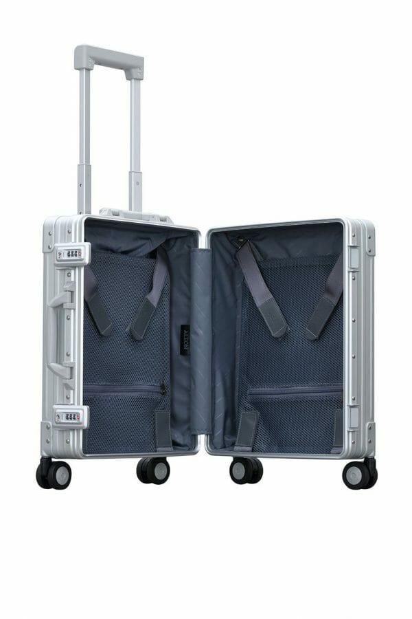 International carry on aluminum luggage hard-case suitcase