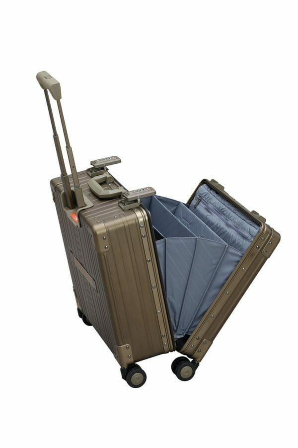 Vertical wheeled laptop case business trip briefcase