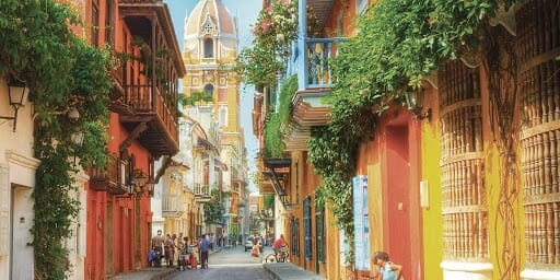 clean street of catagena on our top place to see in latin america